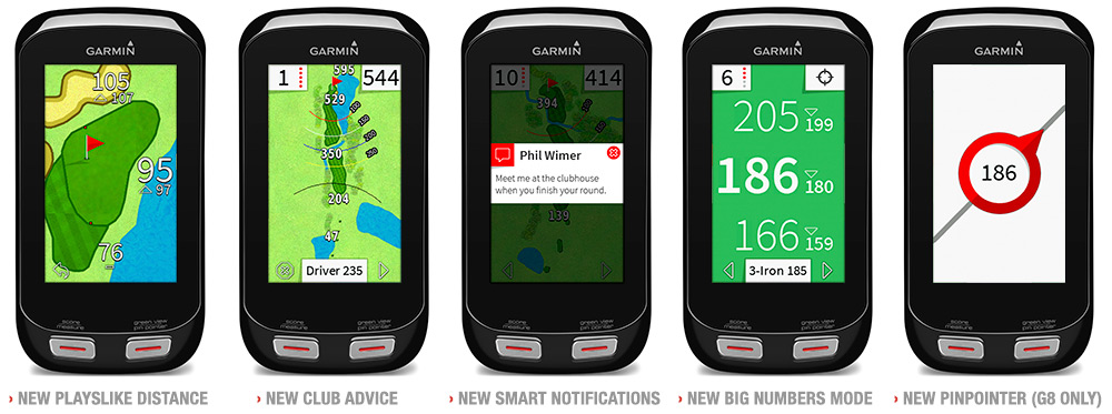 Garmin Approach G8 Key Features