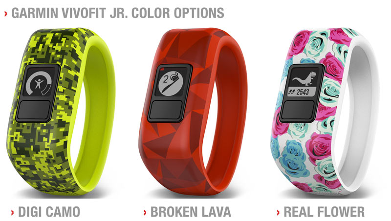 Garmin Vivofit JR Activity Tracker Options and Colors