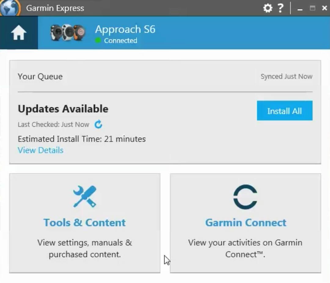 update your garmin golf watch using garmin express