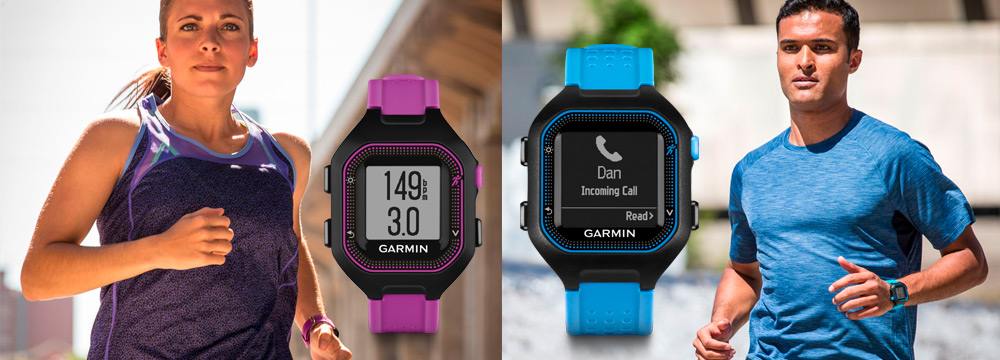 Garmin Forerunner 25 colors available for men and women