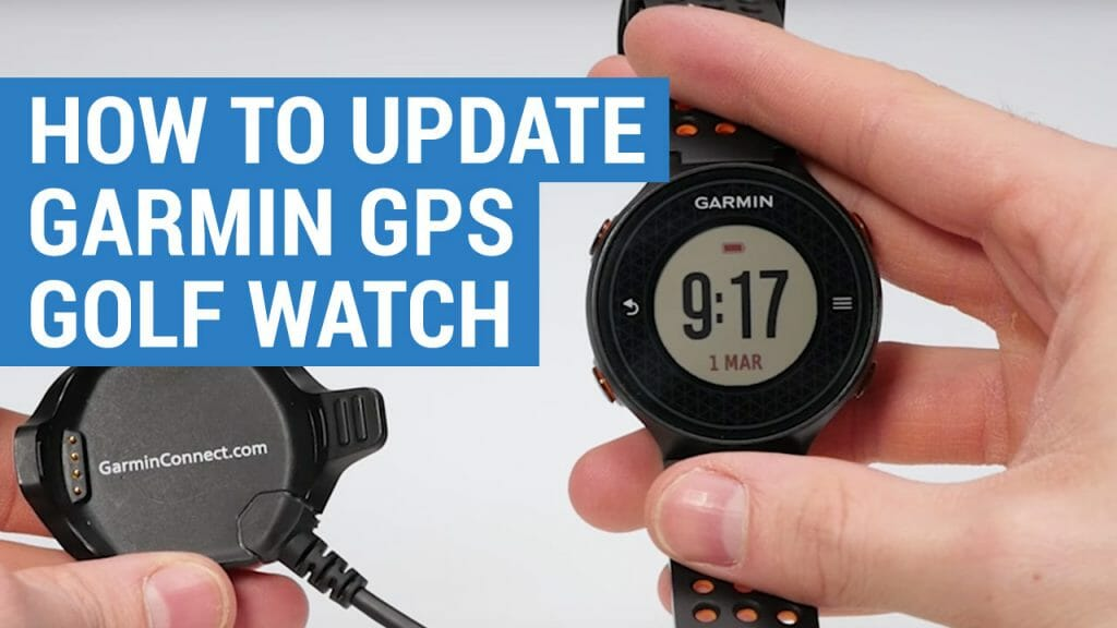 how to update garmin golf watch and replace battery