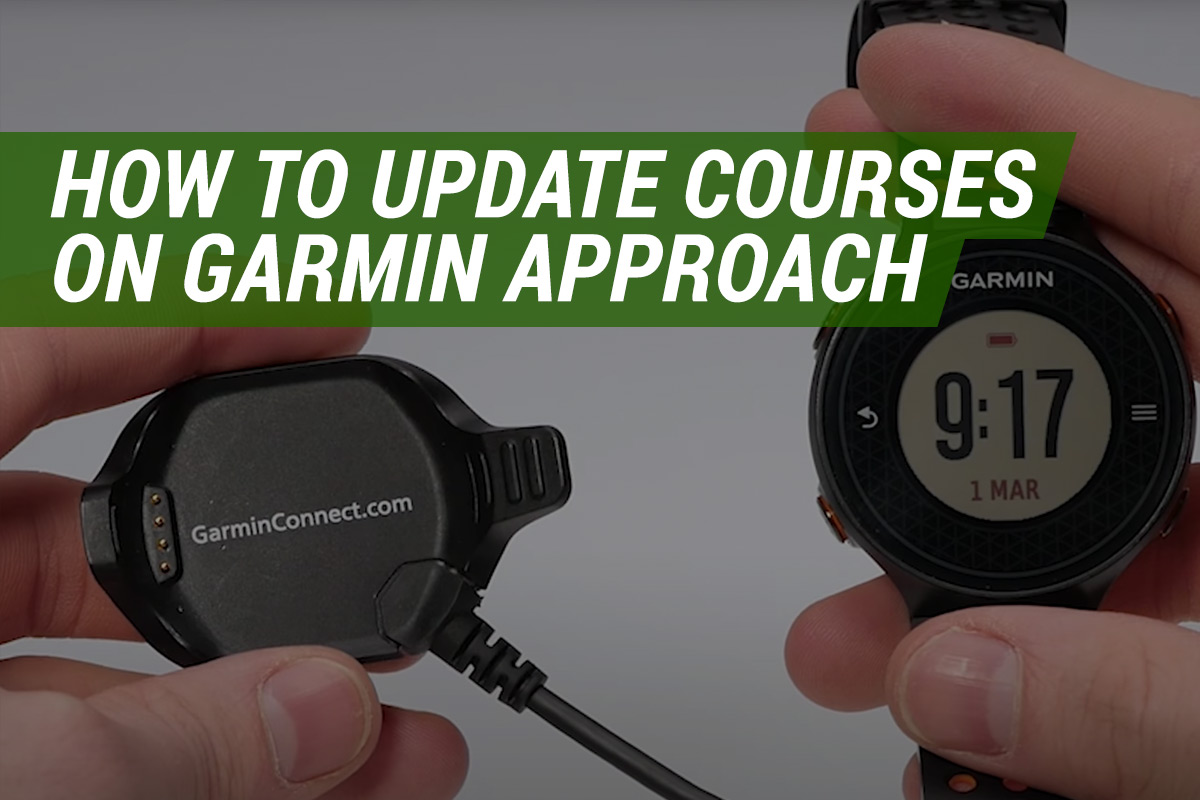 how to update courses on garmin gps golf watch