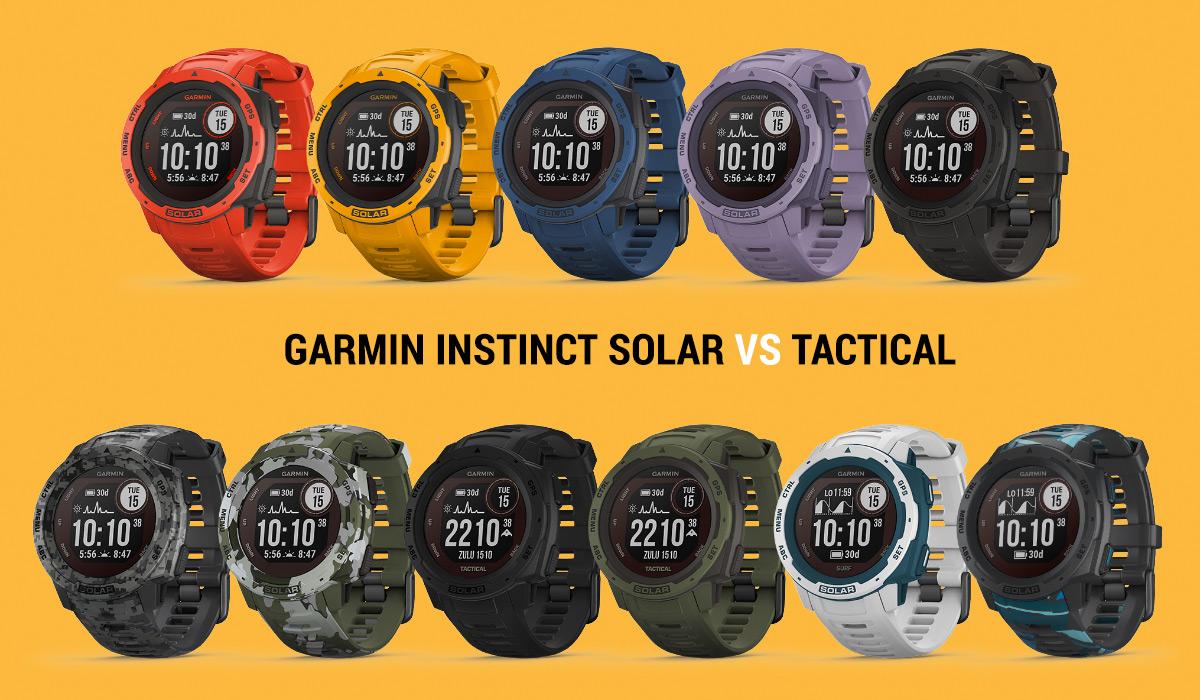 garmin instinct solar vs tactical