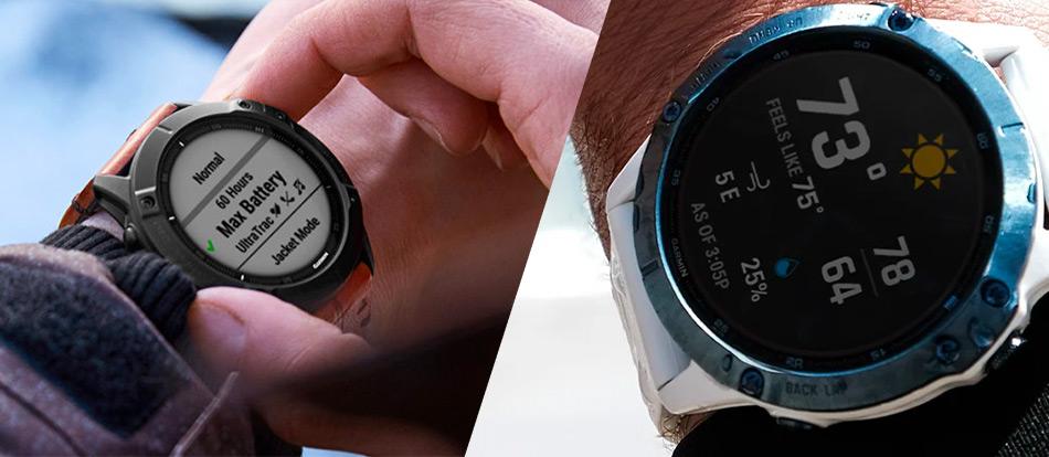 garmin fenix 6 pro solar on wrist