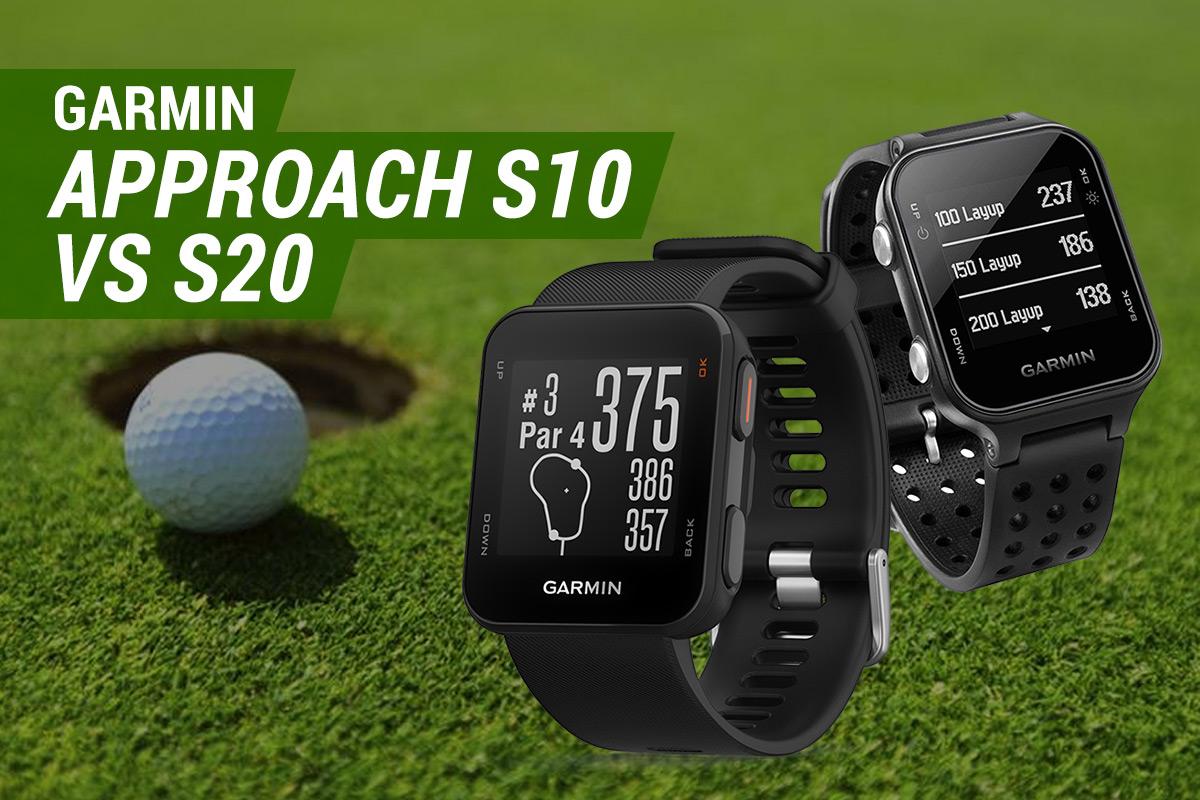 Garmin Approach S10 vs S20 GPS Golf Watches
