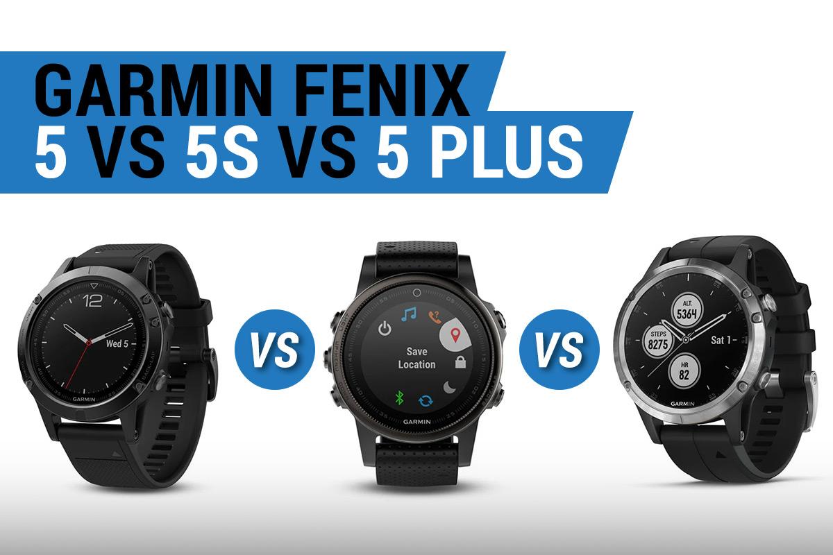 Garmin Fenix 5 vs 5s vs 5 plus