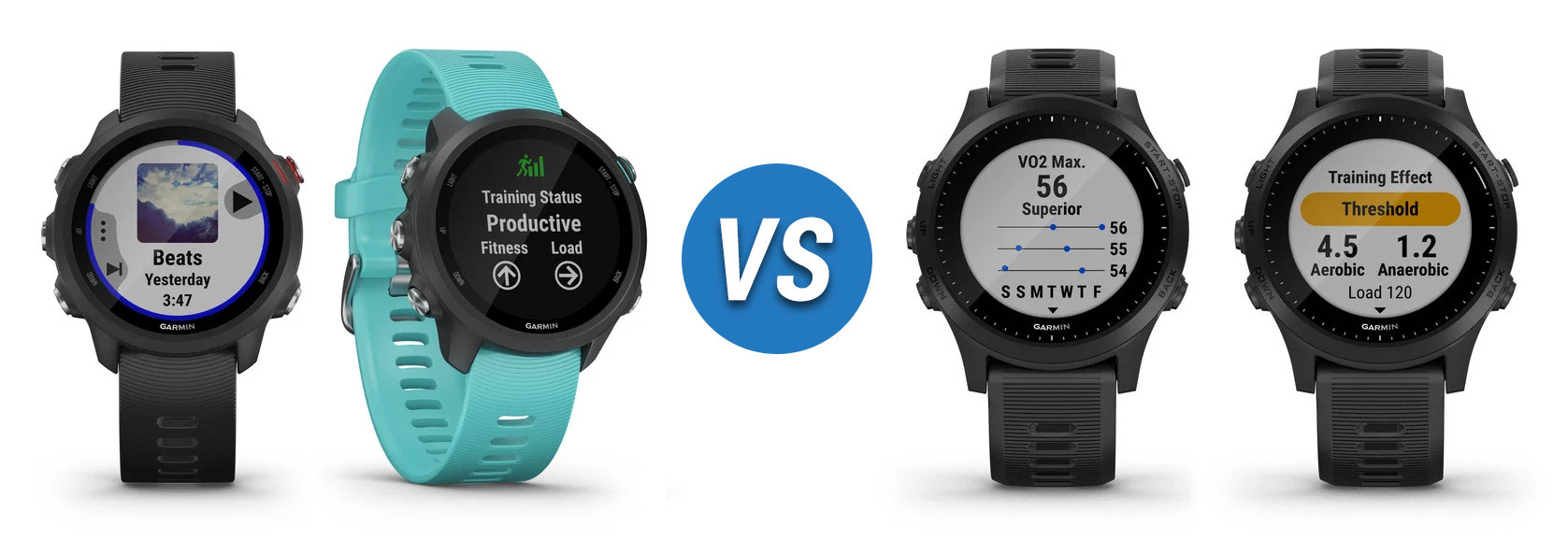Garmin Forerunner 245 Music vs 945
