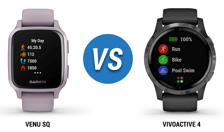 venu sq vs garmin vivoactive 4 smartwatch