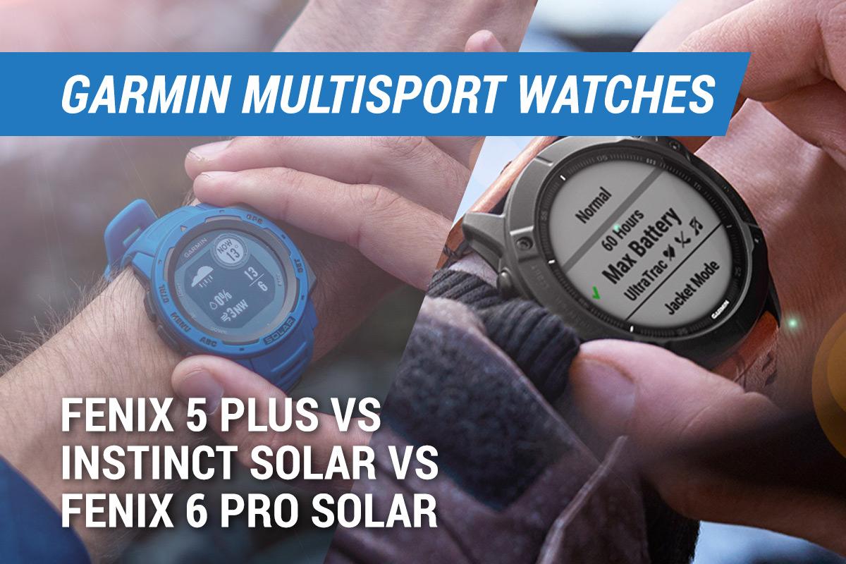 garmin fenix 5 plus vs fenix 6 pro solar vs instinct