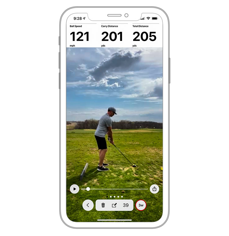 record your swing the Approach R10