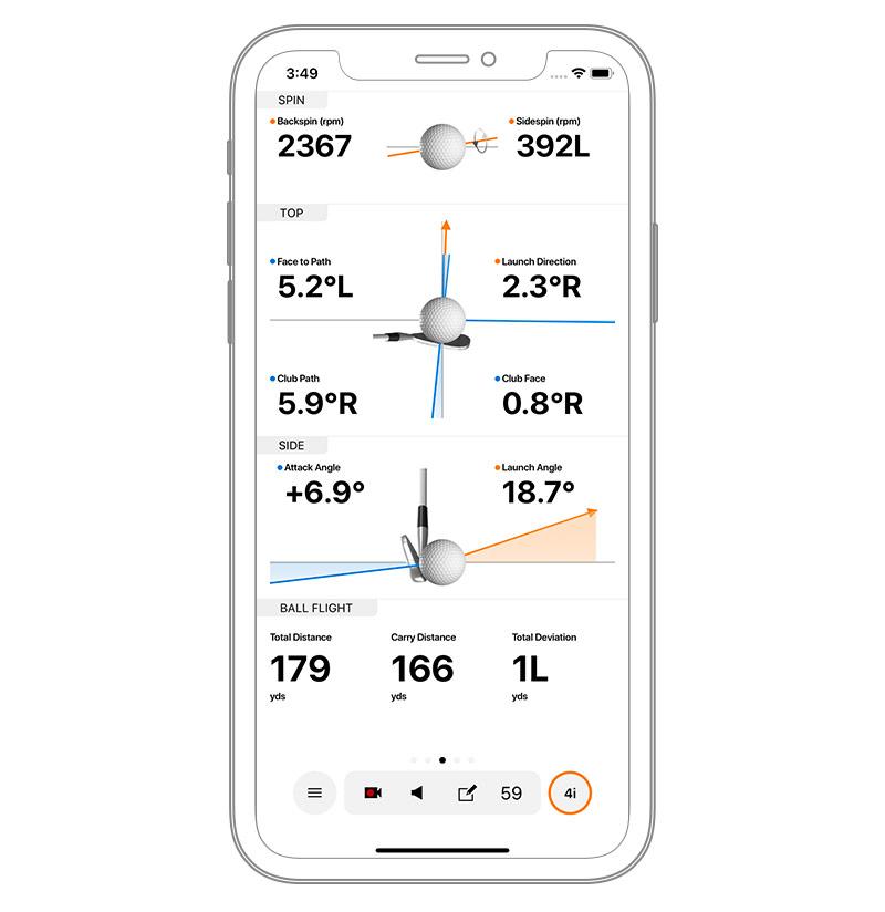 Track swing metrics