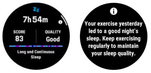 garmin sleep tracking score on a watch